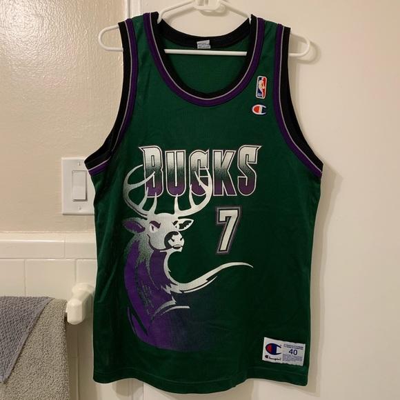 Vintage Terrell Brandon Milwaukee Bucks jersey